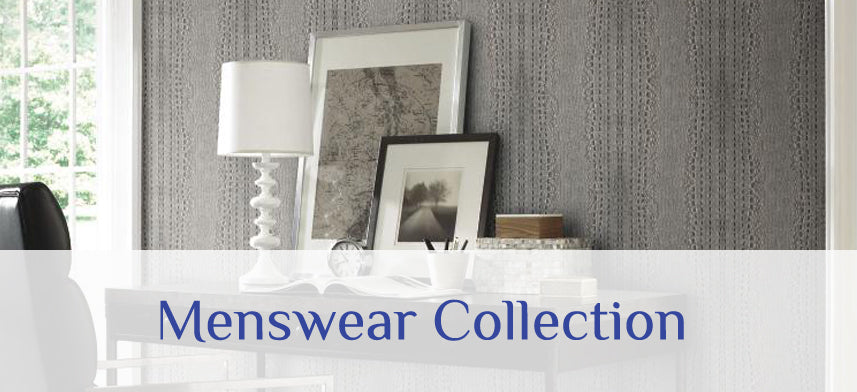 "About Wall Decor's ""Carey Lind Menswear"" Wallpaper Collection"