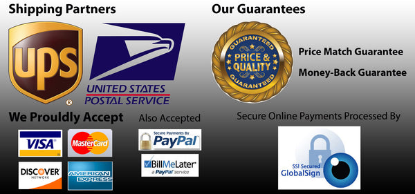 Shipping, Guarantees, Payments, Security