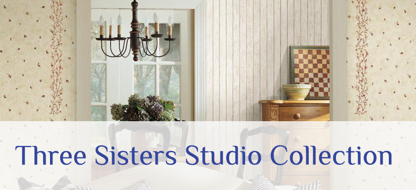 "About Wall Decor's ""Three Sisters Studio"" Wallpaper Collection"