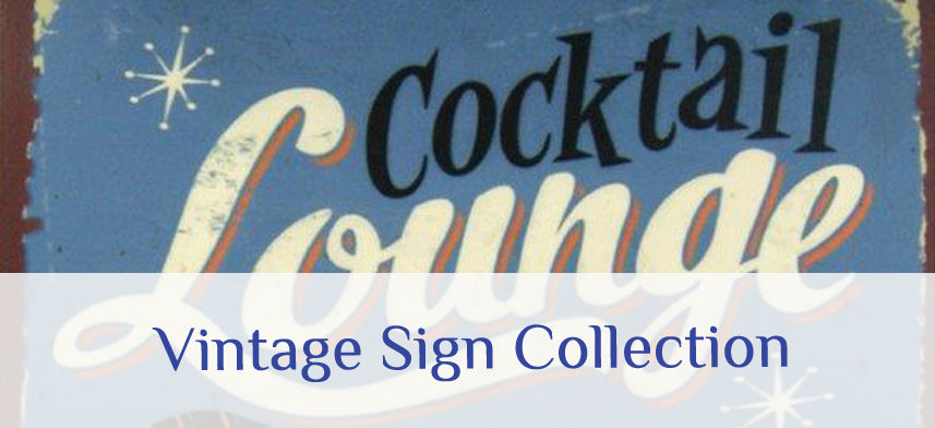 About Wall Decor's Vintage Sign Collection