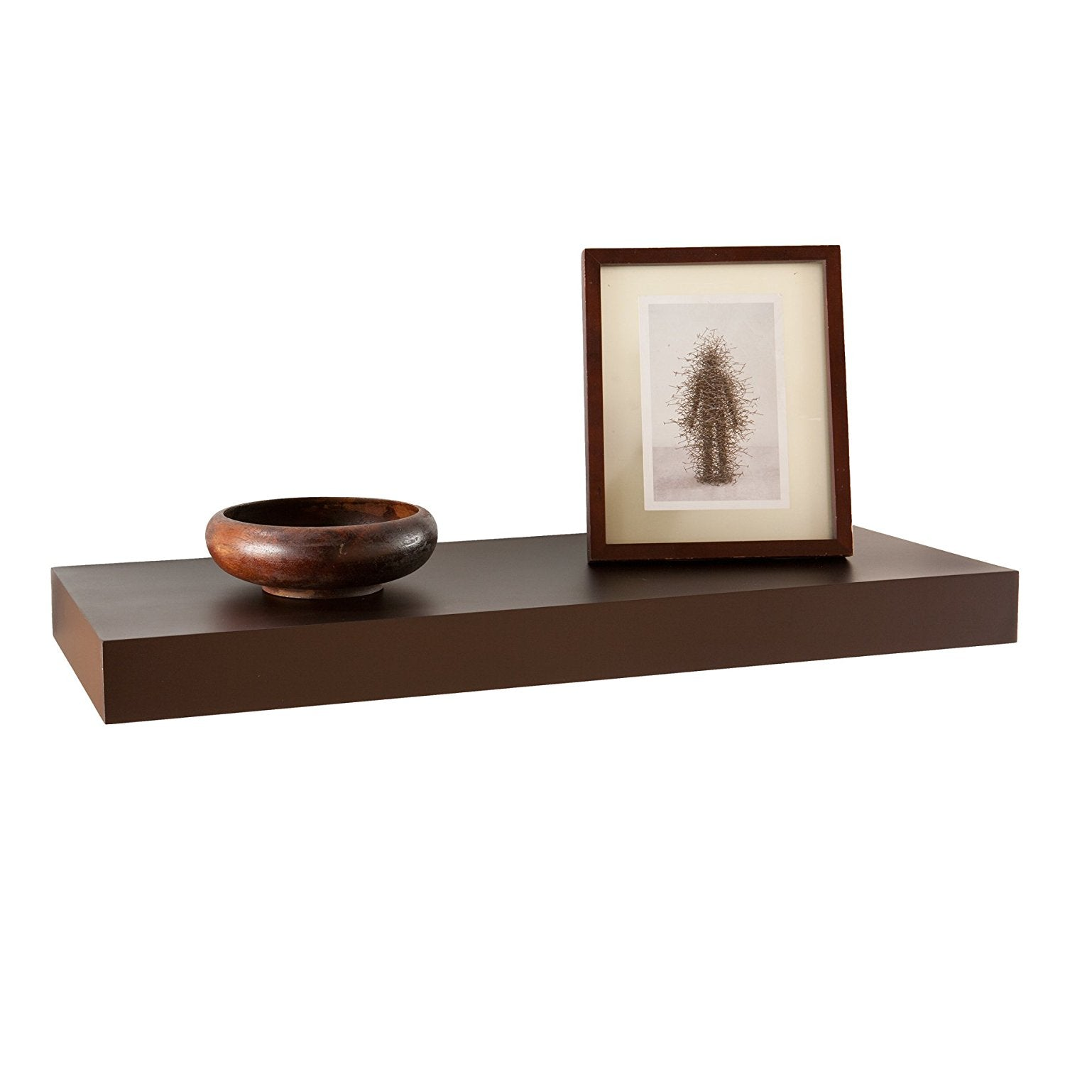 Perlesmith Double Floating Wall Mount Shelf W Tempered