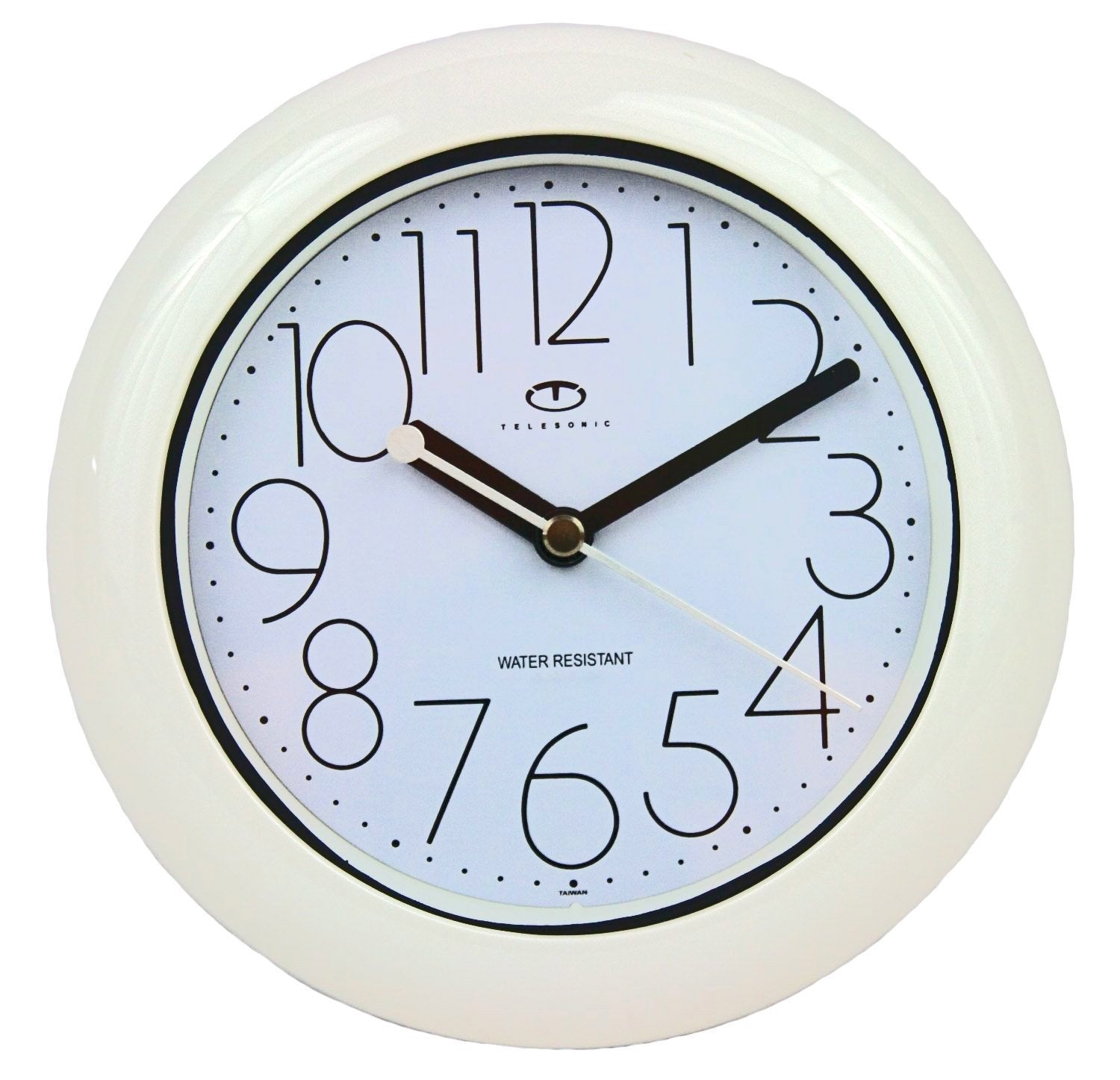 675 Water Resistant Wall Clock With Quiet Sweep Movement