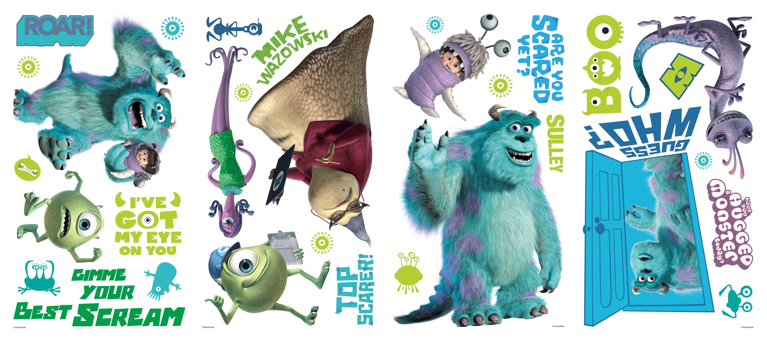 Disneyu0027s  Monsters Inc.  Wall Decals ...  sc 1 st  About Wall Decor & Disneyu0027s