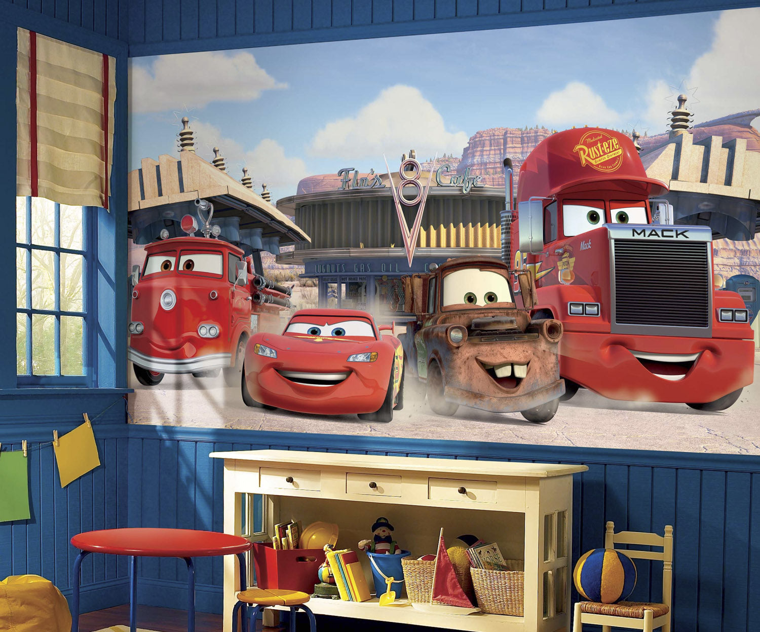 Disney Pixar Cars Friends to the Finish Prepasted Wall Mural 105W
