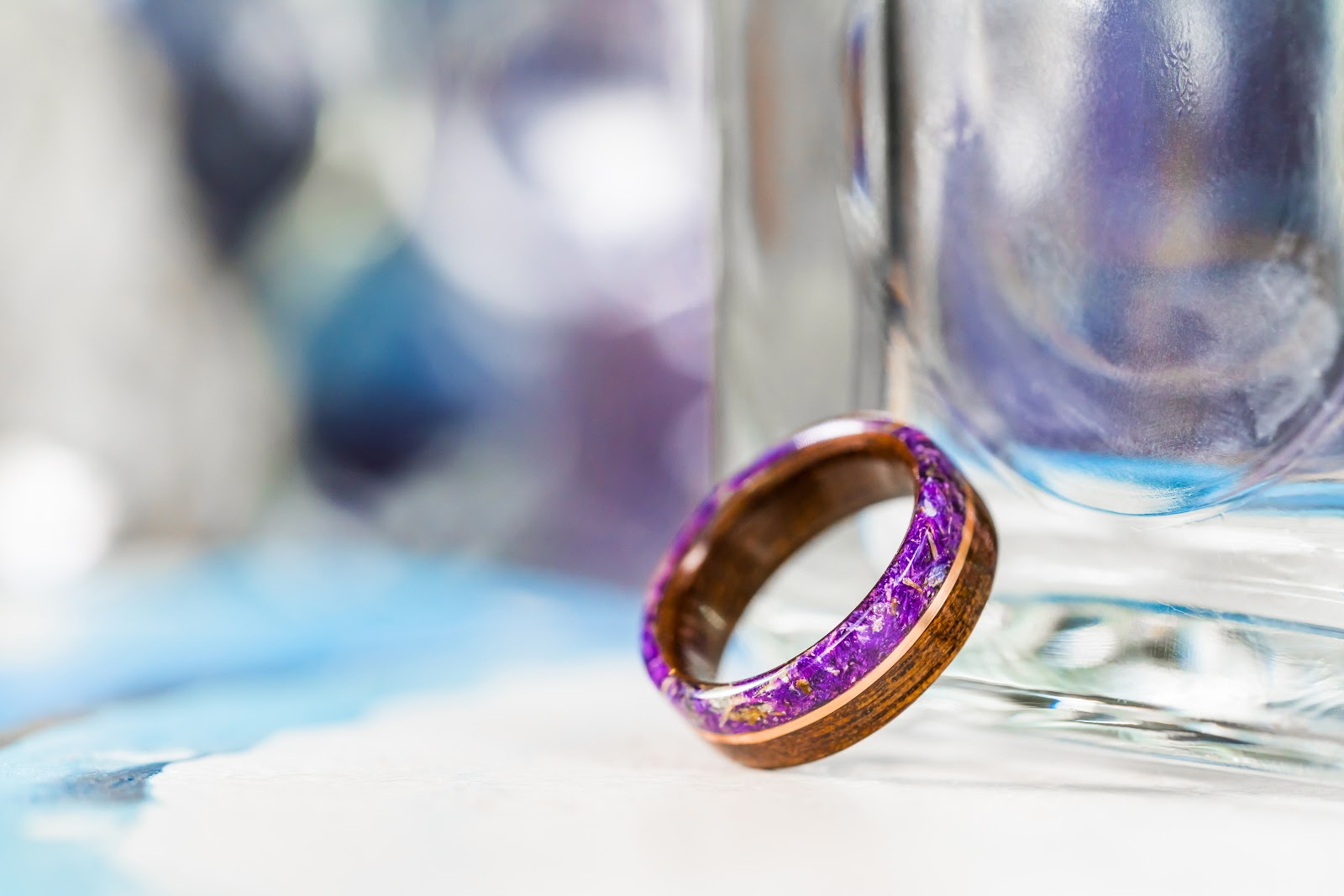 lavender ring alternative to diamond ring