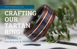 Crafting our Wood Tartan Wedding Ring