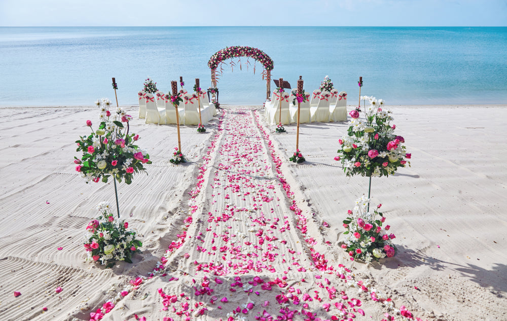 micro wedding ceremony on the beach