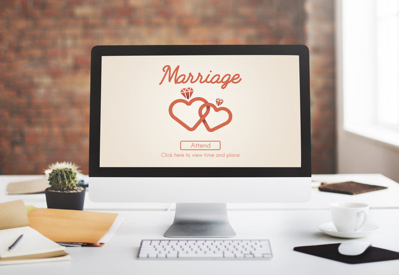 setting up a wedding website