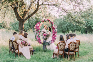 outdoor meaningful wedding ceremony