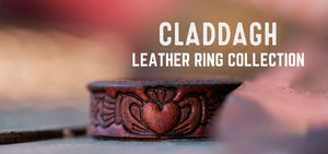 Claddagh Design Leather Rings