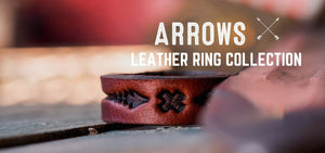 Arrows Design Leather Rings