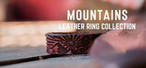 Mountains Design Leather Rings