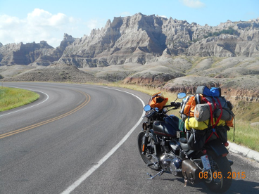 Badlands SD by motorcycle