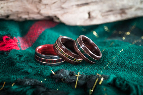 scottish tartan wedding rings