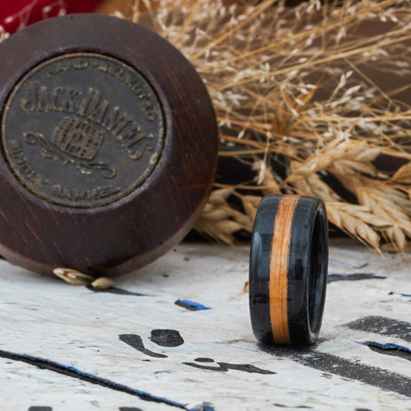 Jack Daniel's Whiskey Barrel Ring Rustic and Main