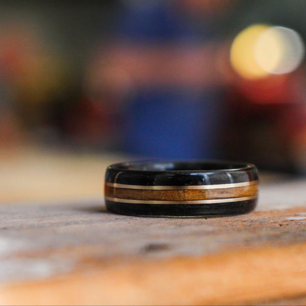 Jack Daniel's whiskey barrel ring