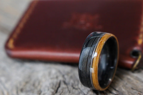 wooden whiskey wedding ring trends in wedding bands