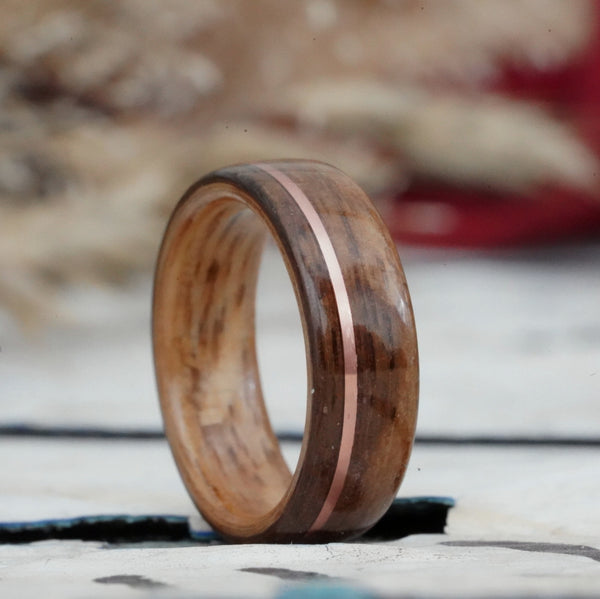 Teak and Whiskey wood ring from the USS North Carolina