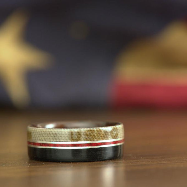 USMC custom wood ring