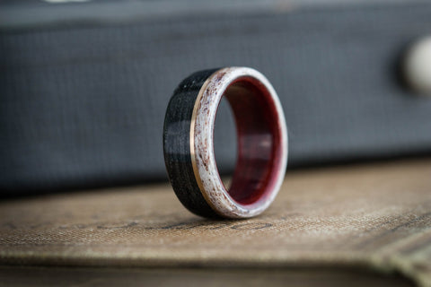wooden wedding ring weathered whiskey barrel