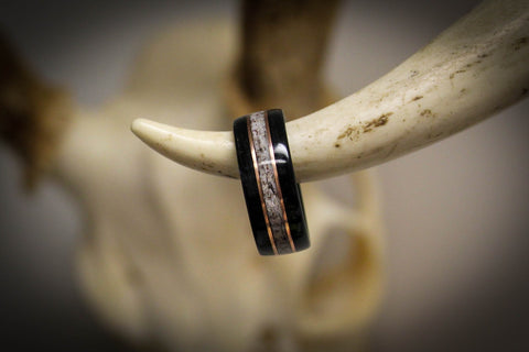 elk antler statement ring