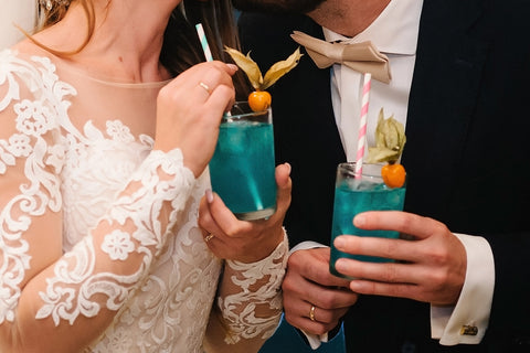signature cocktails for bride and groom