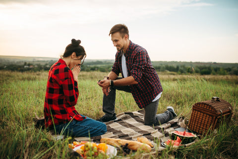 marriage proposal picnic