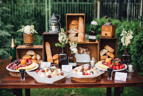 rustic wedding food catering