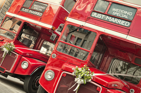 wedding party wedding bus for guests