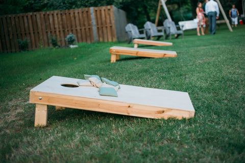summer weddings lawn games