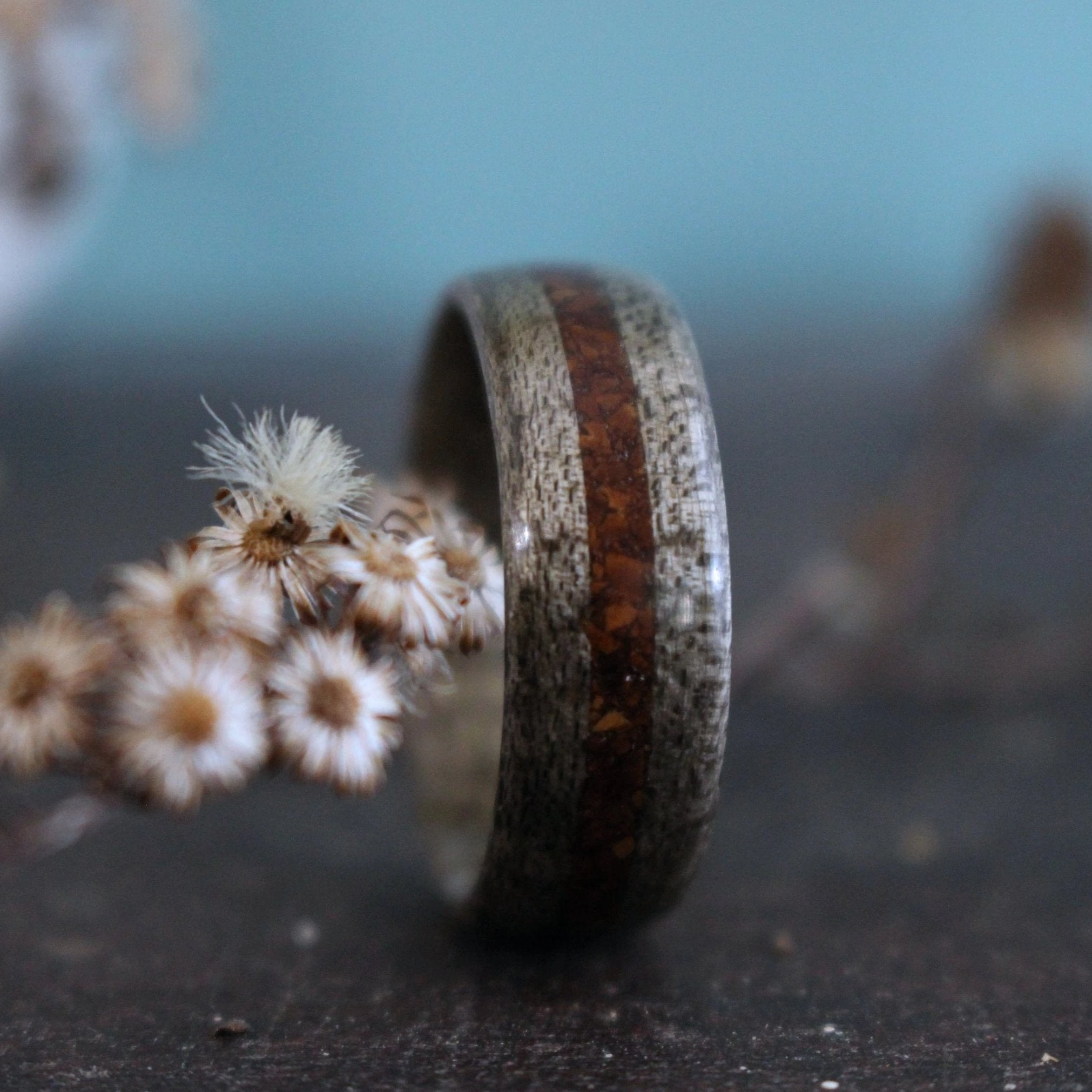 In-Stock Ring - (In-Stock) Weathered Maple & Coffee - Size 5.5/9mm Wide