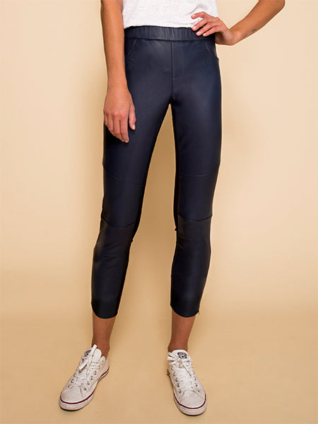 Capri Leather Leggings