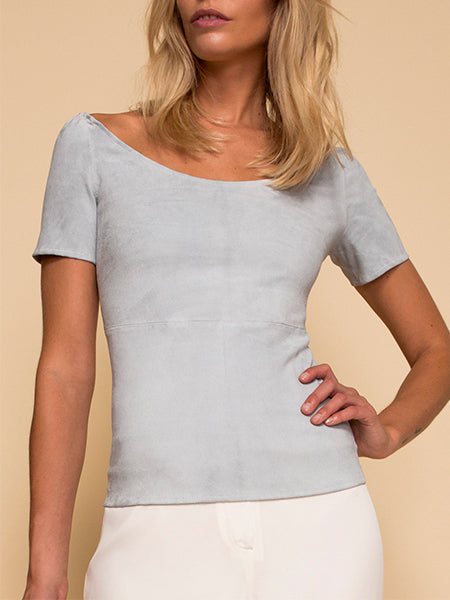 Miss Maverick Stretch Suede Top