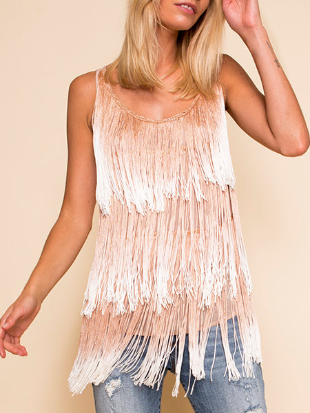 ROSE FRINGE TOP