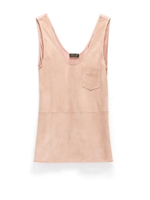 IT GIRL SUEDE POCKET TANK