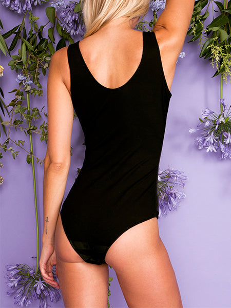 Cult Stretch Leather Bodysuit