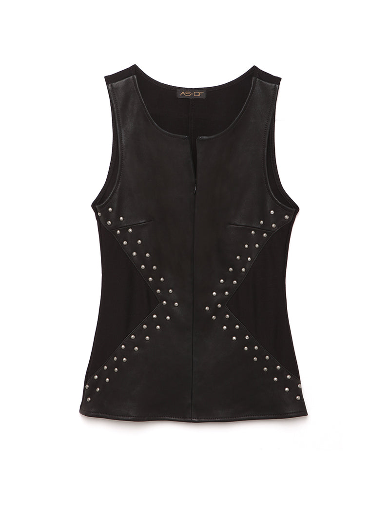 Miss V Leather Top
