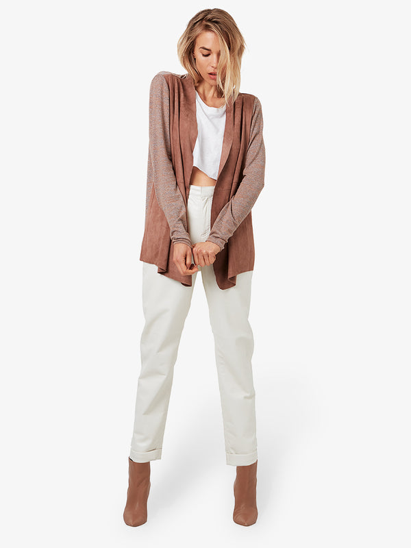 WINDY CITY SUEDE CARDIGAN