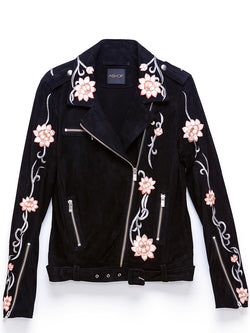 LOTUS FLOWER LEATHER JACKET