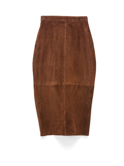 Fault Line Stretch Suede Skirt