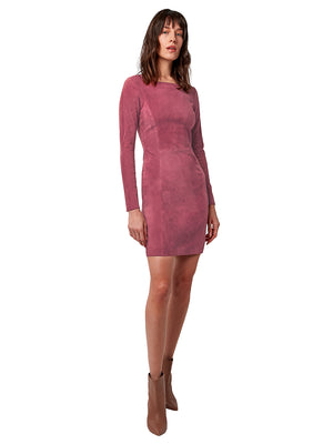 KIKI STRETCH SUEDE DRESS