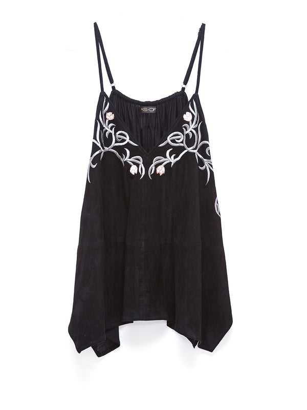 Lotus Flower Suede Cami