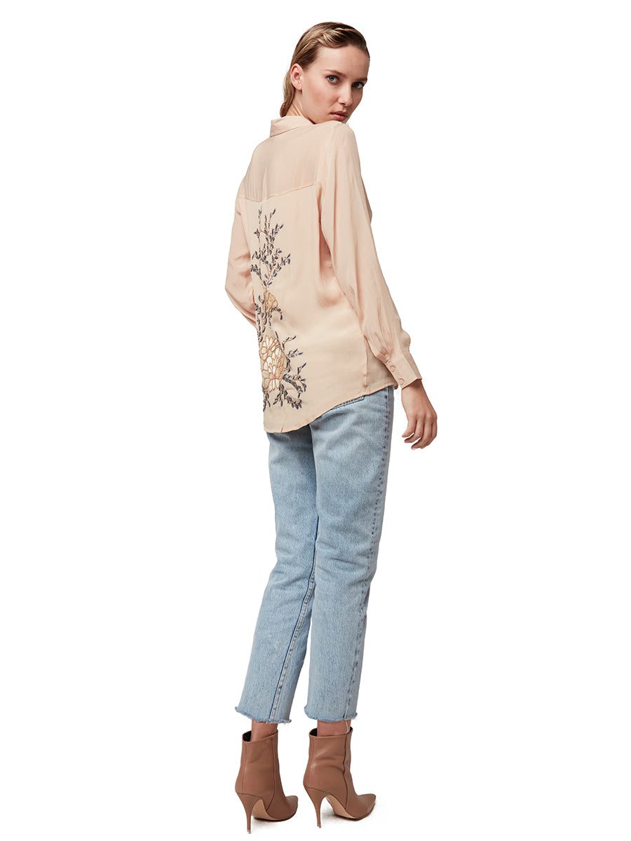 LOTUS FLOWER SILK BLOUSE