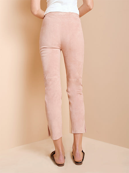 Nico Stretch Leather Ankle Trouser