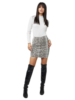 BREVE STRETCH SUEDE SKIRT