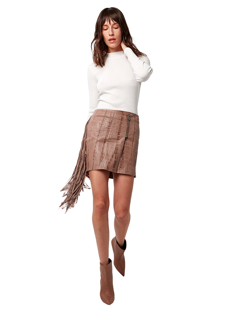 ONE LOVE FRINGE SKIRT