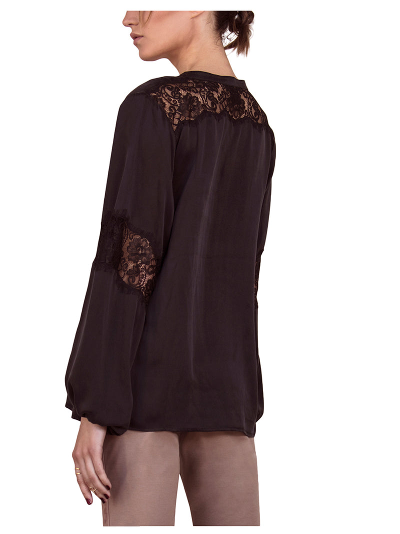 FIRESIDE SILK BLOUSE