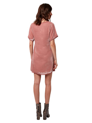 WILLA VELVET SHIFT DRESS
