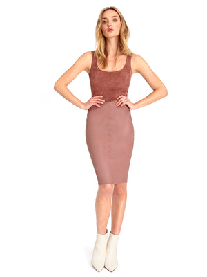 LYNN STRETCH LEATHER DRESS