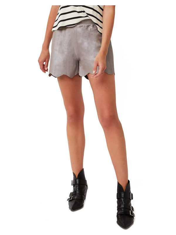 CANNES SCALLOPED SUEDE SHORTS
